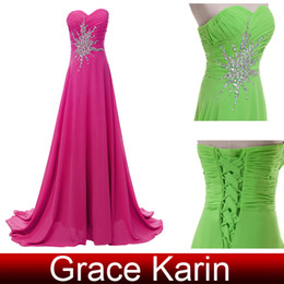 Wholesale Elegant A line Formal Dresses Ruched Sweetheart Beaded Chiffon Party Dresses for Women Floor Length CL4505