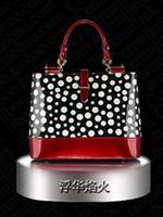 Wholesale luxury Spray paint dermis Fashion female bag Contrast color cowhide handbag Single shoulder bag