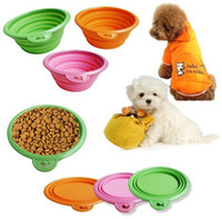 Wholesale Environmental Friendly Ros Silicone Pet Collapsible Travel Bowl Dog Folding Bowl Portable Orange Green rose
