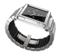 For iPod Nano No  20pcs New Hot!! Metal aluminum material LunaTik Lynk Watch Kits Band luna tik Wrist Strap Case For iPod Nano 6 DHL Free Shipping