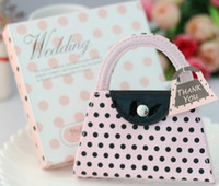 Wedding Pink  Pink Polka Purse Manicure Set Pedicure wedding favour gifts for bridal shower party gifts 400set lot free shipping