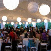 "Ballon and Lantern   48pcs x 8"" White Paper Lanterns + 48 White LED Light Wedding Party Birthday Decoration Centerpiece"