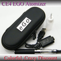 Electronic Cigarette Set Series  Blue ego kit CE4 Atomizer Clearomizer 650mah 900mah 1100mah ego battery electronic cigarettes kit in Zipper carrying case DHL Free