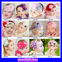 Wholesale 2013 designs BABY AMOUR flower Bouquet Babyamour HEADBAND lace hat cap hair band girls head wrap ty A
