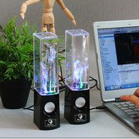 Wholesale LED USB Mini Dancing Water Watershow Speaker Fountain Speakers Soundbox Boombox For phone pc pad mp4 New Style