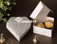 April Fool's Day chocolate diamonds - New Items Wedding Diamond Shaped Favor Boxes Candy or Chocolate Favour Boxes For Wedding Party