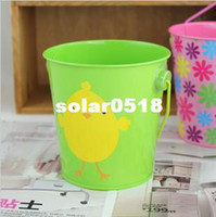 Wedding baby shower ducks - duck design metal wedding pails baby shower buckets mini metal candy buckets chocolate wedding favors
