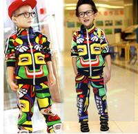 Winter boy set - boys sets new boys sets kids outfits top pant mixed colorful sport sets boys suits