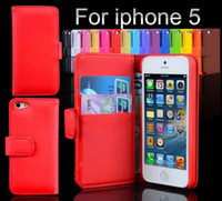 PC For Apple iPhone For Christmas Wallet ID Credit Card KickStand PU Leather Case Back Cover for Apple iphone 5 5G
