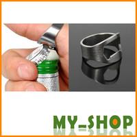 Wholesale Bottle Opener Brand New Stainless Steel Finger Ring Bottle Opener Bar Beer Tool JJ0107