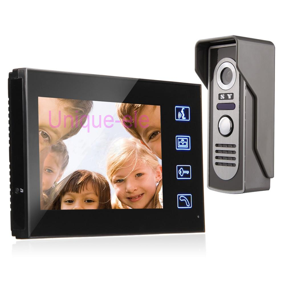 7 inch tft color touch key video intercom doorbell door for Front door video intercom