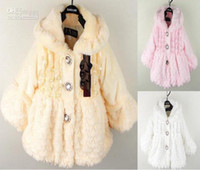 fine clothing - Retail Retail baby girls the fine fur coat Kids Children Clothes with Pearl decoration Outerwear Jackets Autumn Winter cvv