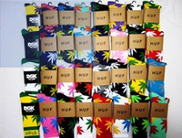 Stockings Unisex Cotton 24pcs=12pair HI-Q multicolor purity cotton marijuana maple leaf towel bottom thicken fashion HUF plantlife skateboarding socks