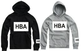 Wholesale piece Hood by air paid in full hoodie hba pif with a hood pullover sweatshirt outerwear Hip hop brand desinger hoodies