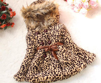 Wholesale Retail Girls boys Leopard fox fur Hooded jackets hoodies coat clothing Autumn Winter wear Clothes baby Children hoody jacket cxv