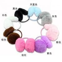 Wholesale 200pcs Christmas Promotion Women Backphones Warm Plush Winter Earmuffs Ear Muffs Cute Candy Color Girls Ear Covers