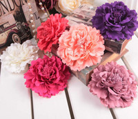 Blending fabric flower pin - Artificial Peony Flower with Pin cm inches Fabric Peony Rose Camellia Flower Head for Wedding Christmas Party Hairclip Flowers