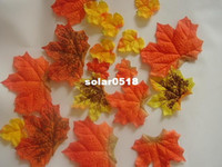 Wholesale 500pc Fall Silk Leaves Wedding Favor Autumn Maple Leaf Party Table Decoration