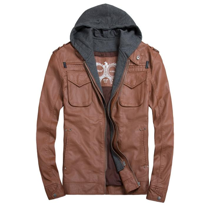 Compare Mens Hoodie Leather Jackets Prices | Buy Cheapest