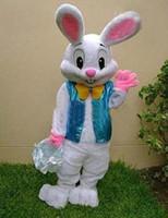 Wholesale PROFESSIONAL EASTER BUNNY MASCOT COSTUME Bugs Rabbit Hare Adult Fancy Dress Cartoon Suit