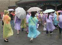wholesale rain ponchos - Home Rain Use New Travel Essentials Disposable PE Raincoat hat rain Poncho manufacturer random color