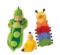 Unisex Summer  Hot Sale New chirldren jumpsuits bady Caterpillars Pajamas Peas Sleeping bag Banana clothes Cute cartoon