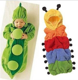 Wholesale New Arrival chirldren jumpsuits bady Caterpillars Pajamas Peas Sleeping bag Banana clothes Cute cartoon