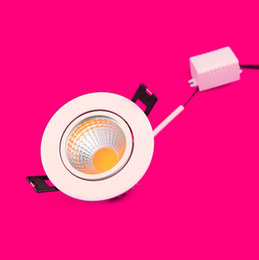 Wholesale price frosted cover daylight white Dimmable 12W COB led down light led ceiling light AC85~265V