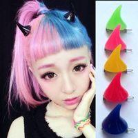 Wholesale Hair Clips amp Barrettes demon horns Halloween ear clips Harajuku Barrette headdress