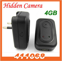 4G No  30fps Hidden AC Adapter Plug Wall Travel Charger Spy Camera DVR DV Motion Detection 4GB 720x480 AVI