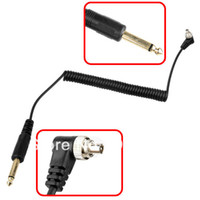 Wholesale 6 mm to Male FLASH PC Sync Cable Cord with Screw Lock worldwide tracking number