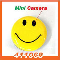 None   hidden cams spy Smile Face Pin Mini Digital Video Recorder Spy Camera+MP3 with TV Out sale(SS107369)