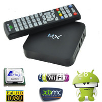Wholesale XBMC Installed MX2 CS838 OS Android Smart TV BOX Dual Core MX Media Player Amlogic Cortex A9 M6 MX1 MKV D Movie Games Navi X P