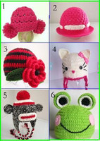 Unisex Winter Crochet Hats 45%off!2013 hot sale baby crochet hat, free shipping baby warm hat,0-12 Months baby wear,cotton yarn,brand new,factory price sale.4pcs