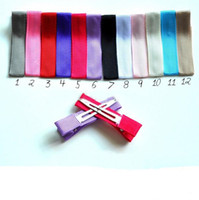 Wholesale Trial Order Partially lined alligator clips size mm Single Prong Hair clip QueenBaby