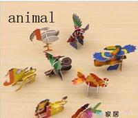 Wholesale Creative toy DIY D puzzle cm students prizes assembled gyro puzzle mini puzzle tank toy animal assembled model children toys