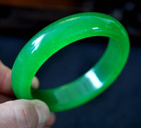 Wholesale Rare Jewelry Natural Green Grade quot A quot Jade Jadeite Bangle Bracelet inner mm