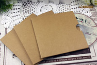 Wholesale High Quality CD DVD R Disc Craft Paper Sleeve CD Cover Case Bag Simple Open Design Blank