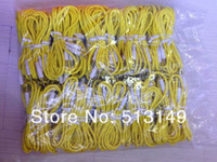 Wholesale 3 mm Stereo Audio AUX Cable Braided Woven Fabric wire Auxiliary Cords Jack Male to Male M M m Lead for Iphone samsung Mobile Phone