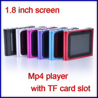 Wholesale 1 inch portable mp4 player with TF card slot clip mp4 player with retail package support TF card micro sd card no build in memory