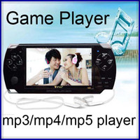 "4.3 inch No 4GB 4.3"" TFT Screen 4GB Handheld Game mp5 Player With Camera FM TV-Out video Portable Game Console black blue pink red 30pcs lot"