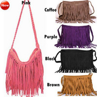 Wholesale Fashion Celebrity Tassel Fringe Shoulder Messenger Handbag Cross Body Bag
