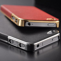 Wholesale New arrival cheap slim ipone G gold metal case luxury Electroplating cross grain hard metal case for iphoen G