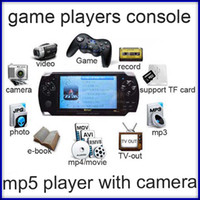 4.3 inch No 4GB portable handheld game console 4GB 4.3 inch multimedia mp5 player game player with FM 2.0MP camera 10pcs lot