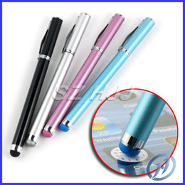 Wholesale Metal Stylus Pen Colorful Touch Pen OZAKI Ball Point Pen for iphone C S samsung S3 S4 mini Tablet ipad with Retail Package