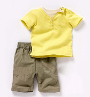 Cheap 2013 New Arrival free shipping children clothes set Summer design boy's 2 pcs suits t-shirt+shorts boys wear