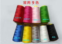 Wholesale 3000 yards s polyester sewing thread cone of thread quality home textiles sewing thread sewing machine thread