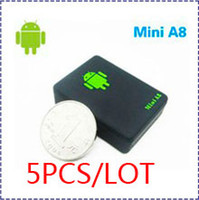 One Way   HK POST Ship 5PCS LOT Mini A8 Global car GPS Tracker Audio Bug Monitor with Sound-control Dialing SOS CheapQuad-Band GSM GPRS GPS Tracker