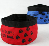 Wholesale New Pet Dog Cat Portable Collapsible Foldable Camping Travel Bowl Water Food Feeder
