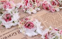 Cheap 20yards lot Retail Free Shipping Chiffon 3D Sun Flowers Sewing Shabby Chic Lace Mesh Trim Trimmings 6cm Wholesale Dropship